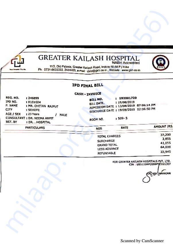 Expenses detail