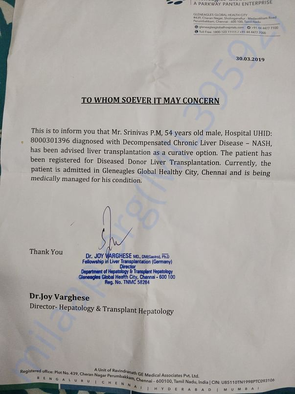 Srinivas pm  liver transplant