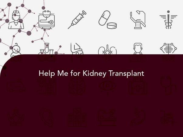 40 Years Old Balasubramaniam Needs Your Help Fight Chronic Kidney Disease