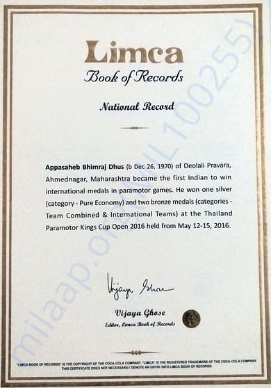 2nd Limca Record