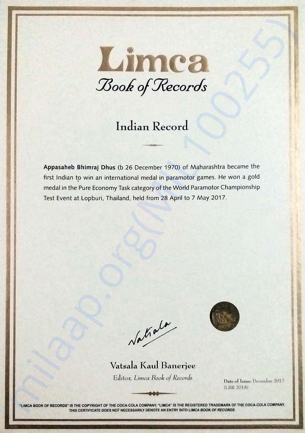 Third Limca Record
