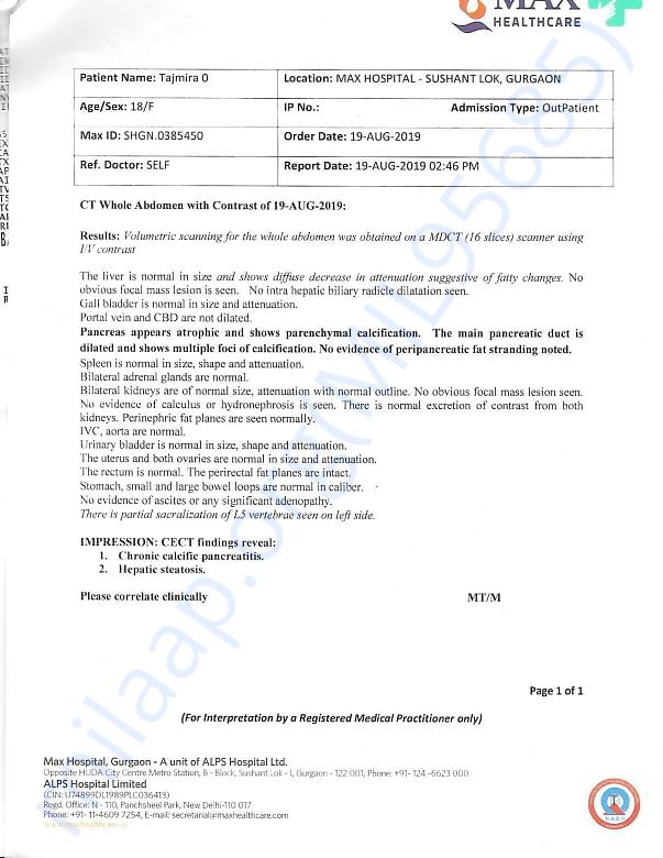 Contract CT Scan Results