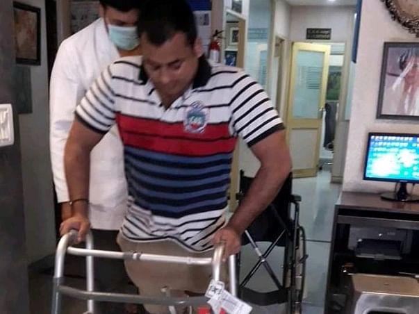 Please help deepak fighting for paralysis