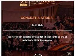 Support Me To Represent INDIA in Asia World United Nation.