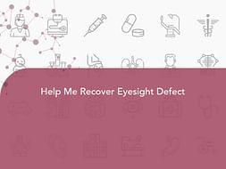 Help Me Recover Eyesight Defect