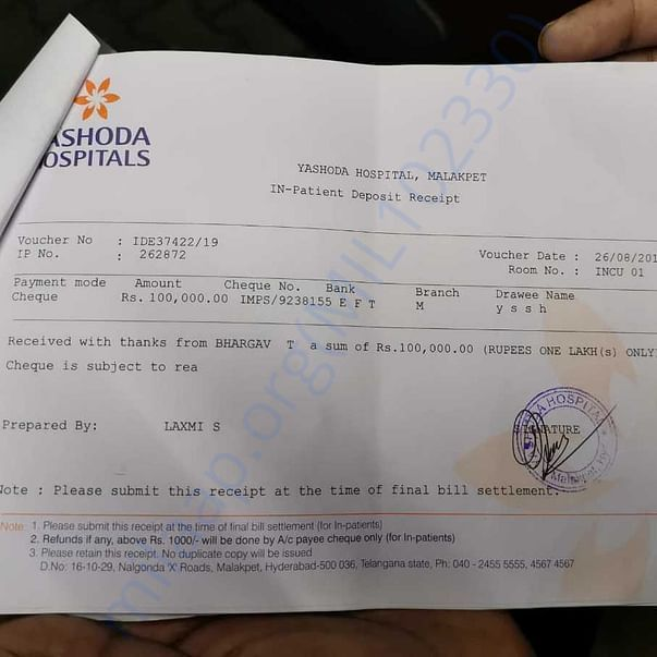 Initial Payment at Admission
