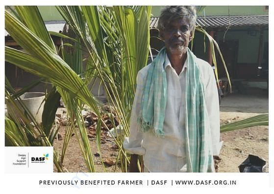 A poor farmer DASF has helped and Supporting