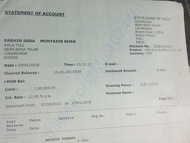 Loan Account Statement And Details