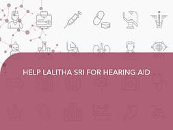 HELP LALITHA SRI FOR HEARING AID