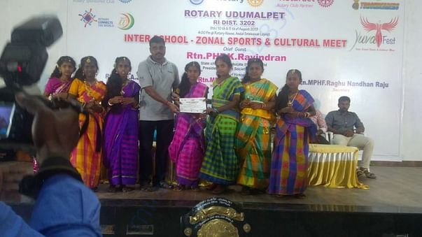 Won in Rotary competitions in Udumalpet