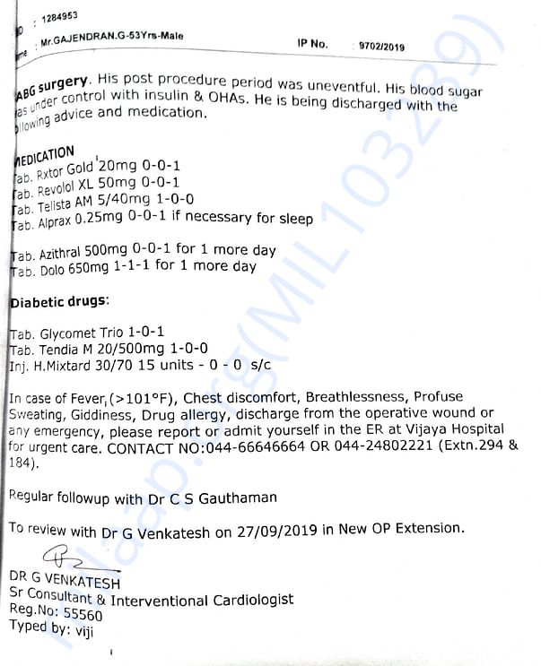 Summary 2 and medication report