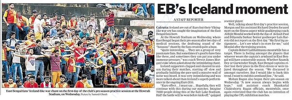 East Bengal Ultras in Telegraph India