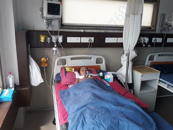 Todays Status of Khatija. Date : 15.09.2019 in the ICU of Saachi Hosp.