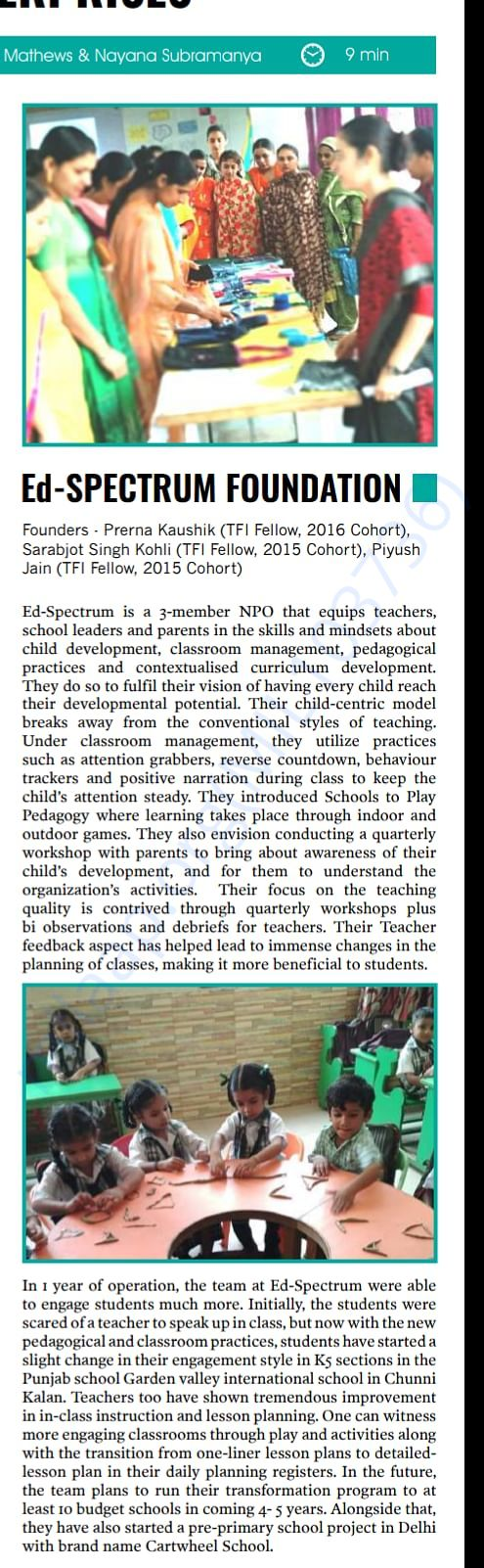 Coverage: The Optimist Citizen, dont forget to catch Cartwheel School