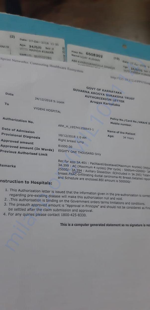 Treatment Bill