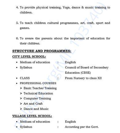 document 5 detailed estimation letter