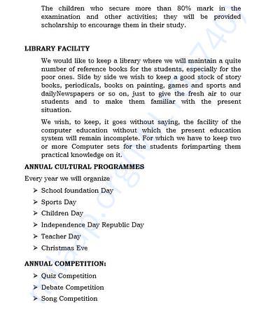document 9 detailed estimation letter