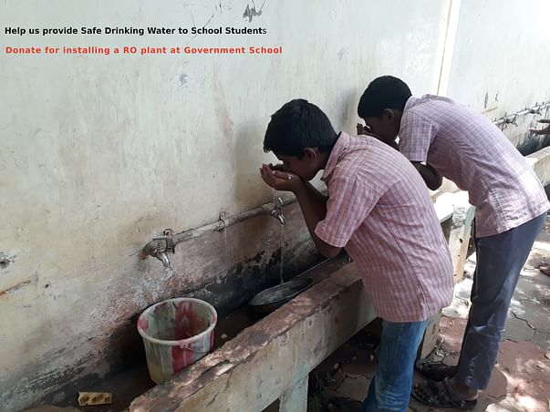 Donate for RO Plant- Safe Drinking Water for  Government School
