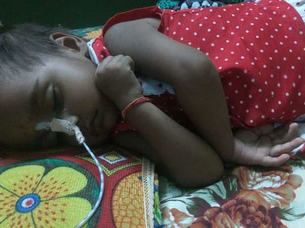 This 2 years old needs your urgent support in fighting Brain Haemorrhage