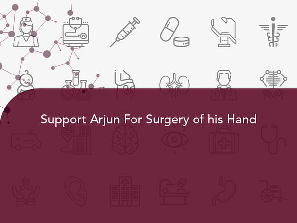Support Arjun For Surgery of his Hand