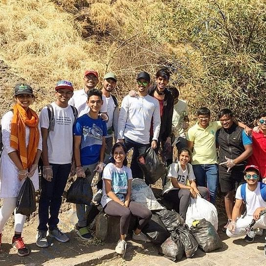 SINHAGAD FORT CLEANING DRIVE ON ACCOUNT OF SHIV JAYANTI