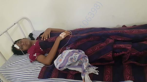 She was admitted at hospitalised .At present infection level is down.