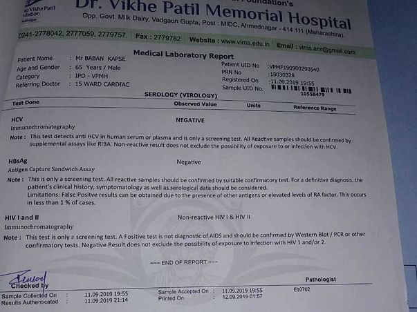 Support Baban Kapse Recover From Heart Valve Damage