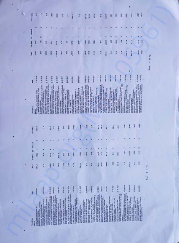 Medical bills page 5-6