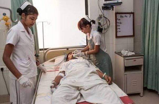 His Condition While Getting addmited to hospital.