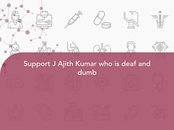 Support J Ajith Kumar who is deaf and dumb