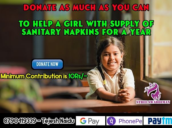 DONATE AS MUCH AS YOU CAN WE WILL DONATE SANITARY PADS FOR NEEDY