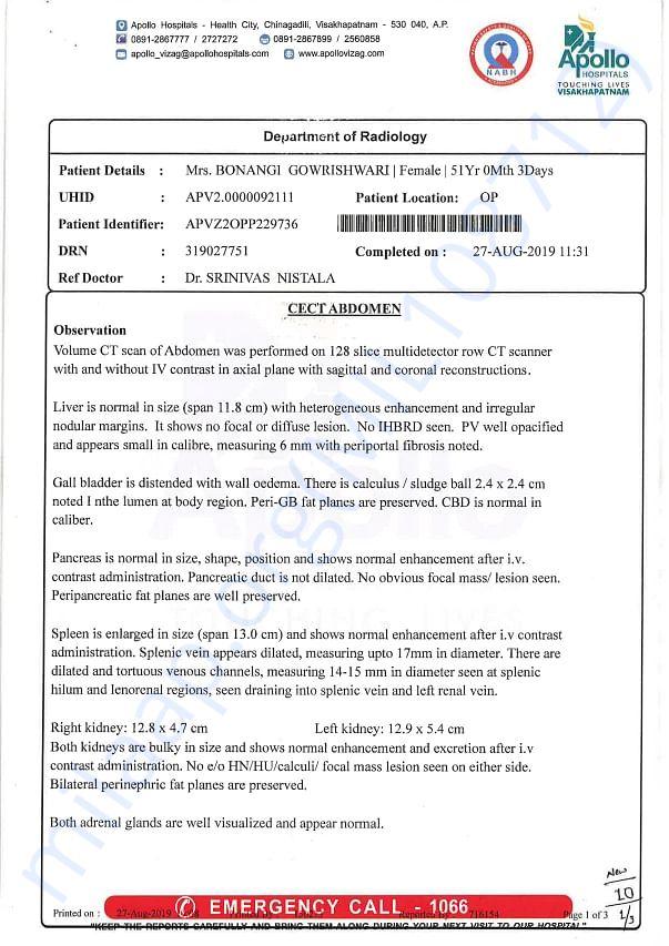 CECT Abdomen Report Page 1 of 3