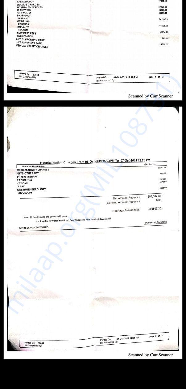 Hospital Bills 1