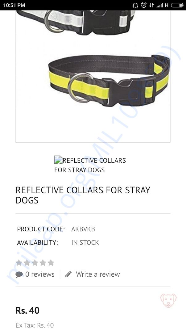 With your heLp I will be able to give reflective collars to manystreet