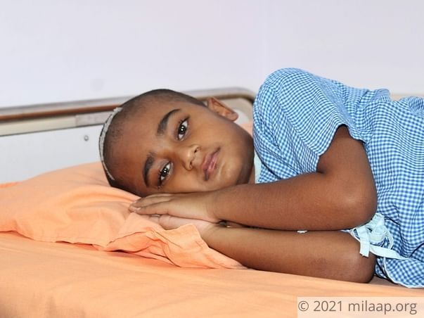 9-year-old Unable To Even Eat Because Of A Painful Brain Tumour
