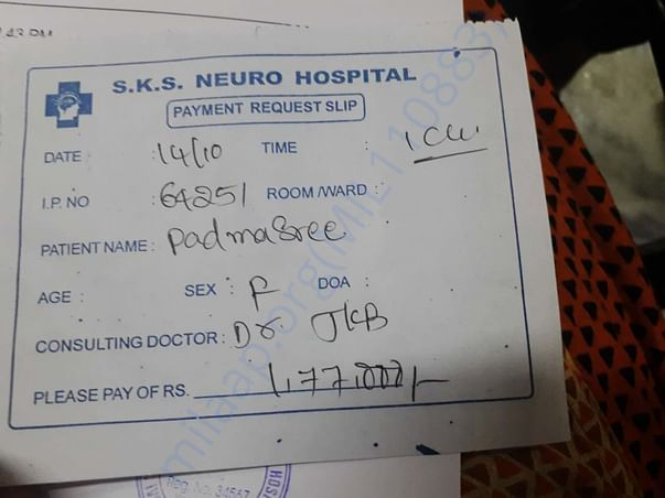 Medical document , invoice.
