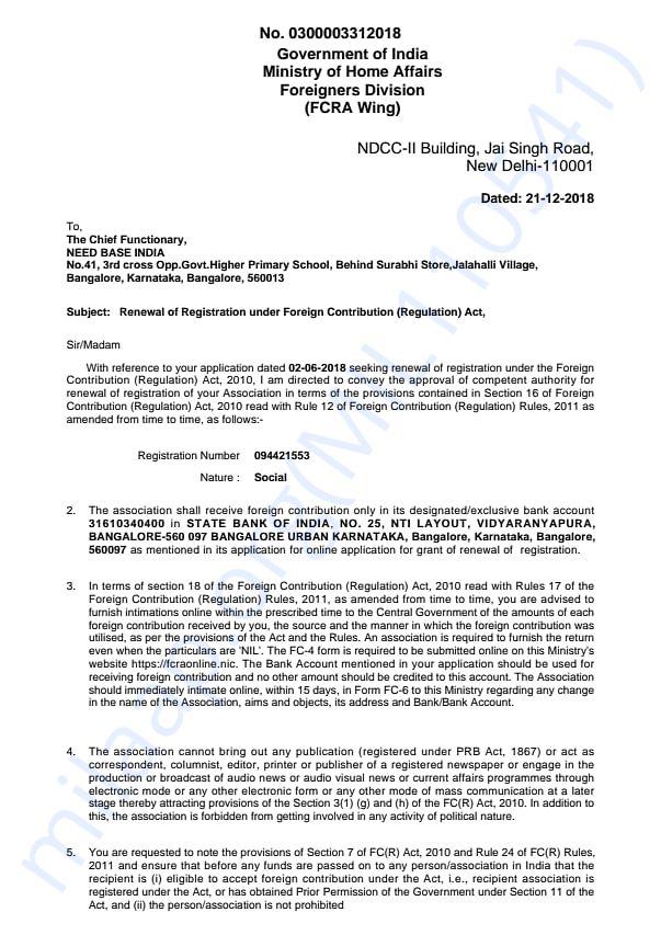 FCRA document