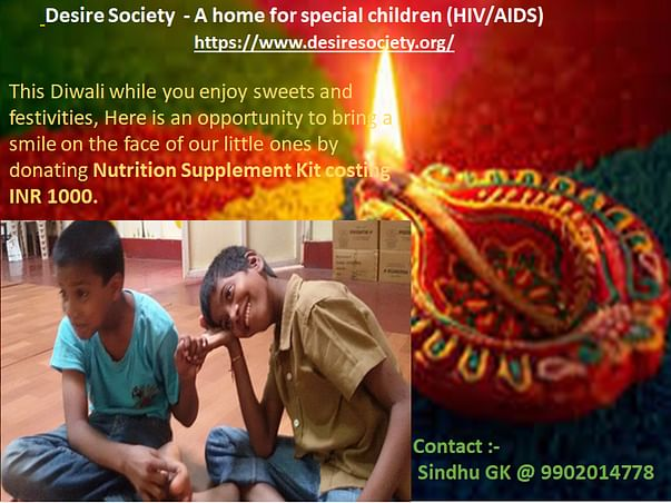 Lighten up your Diwali by helping our children fight HIV
