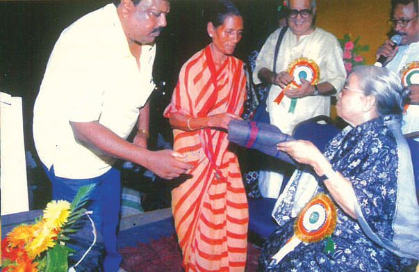 BLANKET DISTRIBUTION BY THE HAND OF LATE PADMA SHRI MAHASWETA DEVI