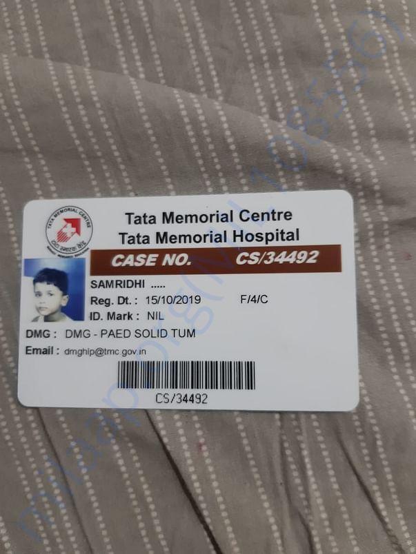 Tata memorial admit card