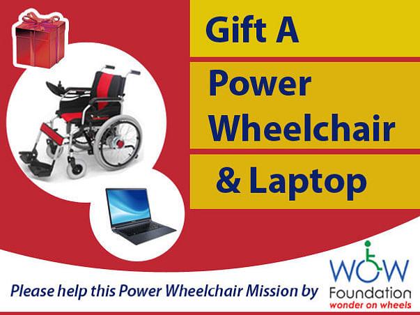 Gift A Power Wheelchair & Laptop