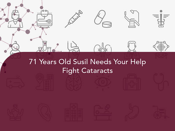 71 Years Old Susil Needs Your Help Fight Cataracts