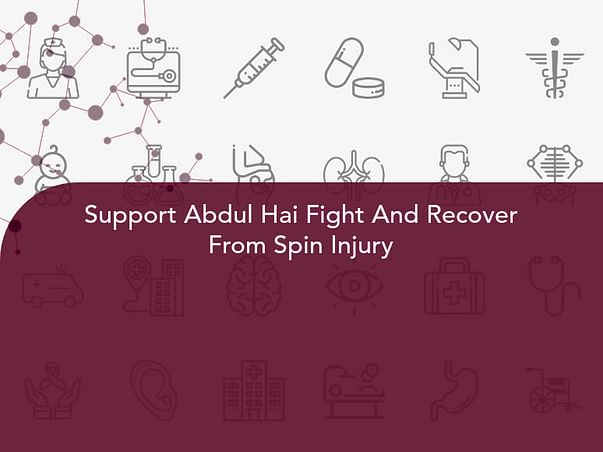 Support Abdul Hai Fight And Recover From Spin Injury