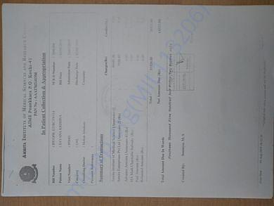 Sample Bills of previous surgeries