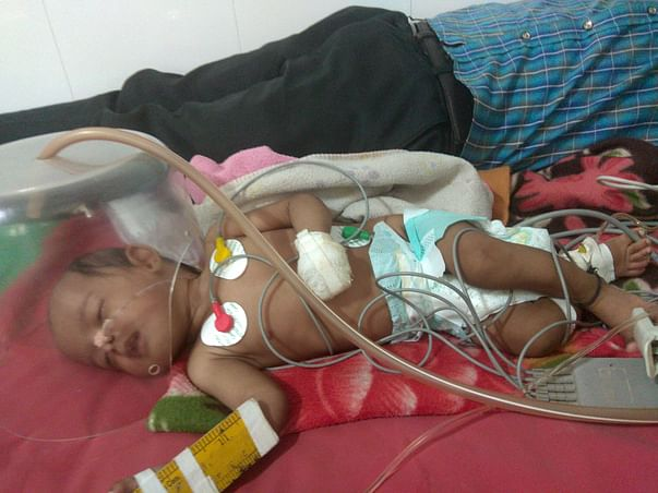 4 Months Old Trisha Pandey Needs Your Help Fight Lung Infection & Pneu