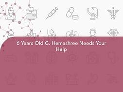 6 Years Old G. Hemashree Needs Your Help