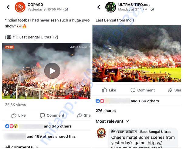 East Bengal Ultras in Copa90 & Ultras-Tifo
