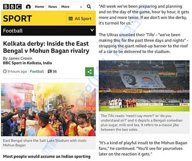 East Bengal Ultras in BBC Sport