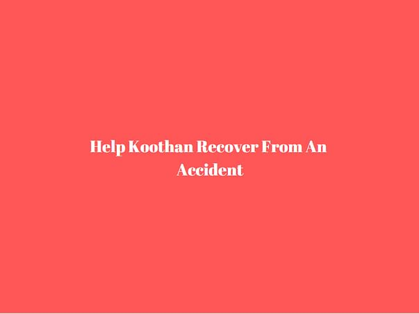 Help Koothan Recover From An Accident