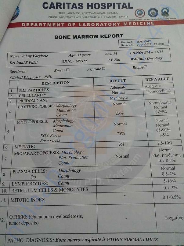 Bone Marrow Report